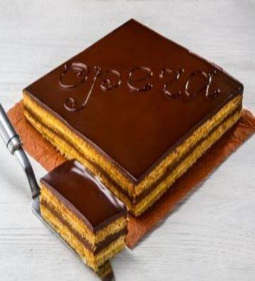 торт опера классический, торт опера мастер класс
